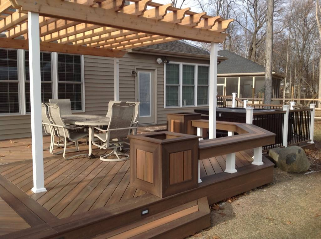 Decks unlimited composite decks for Outdoor composite decking
